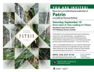 evite Patrin Sechelt Sept 19