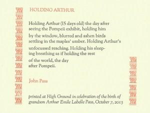 holding arthur
