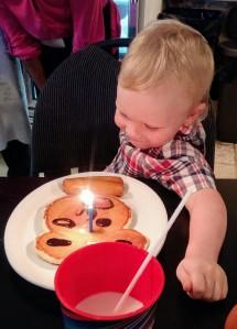 birthday pancake