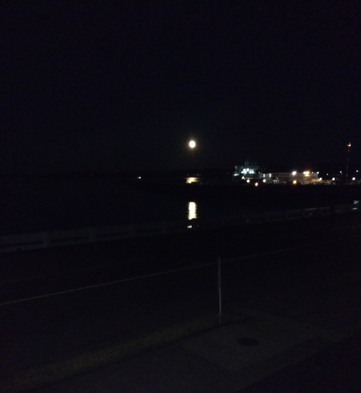 full moon over Ogden Point