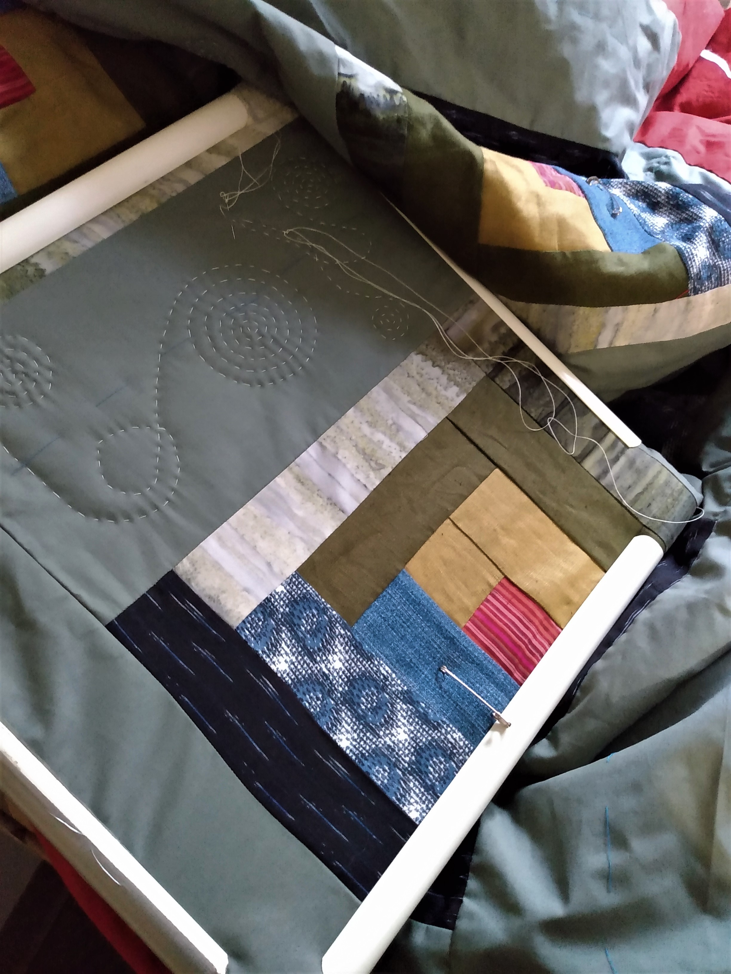 sunday morning, quilting